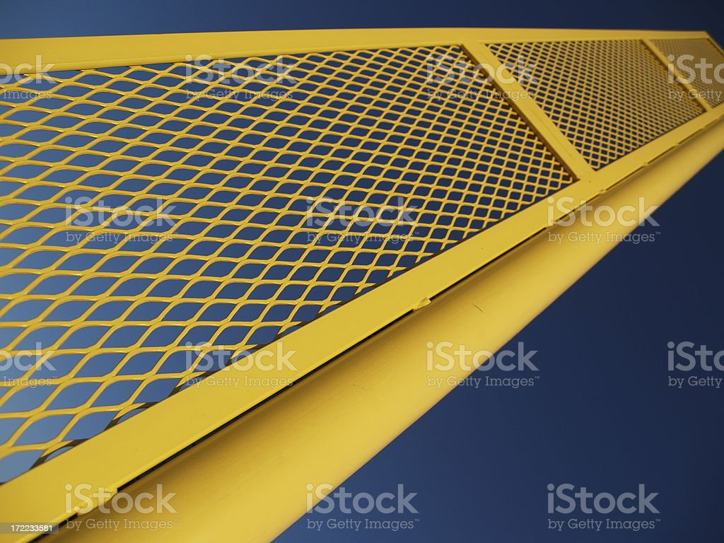 Yellow Abstract Point of View Perspective royalty-free stock photo