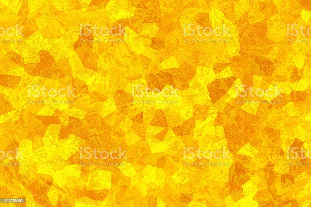 Yellow abstract texture. Mosaic wallpaper. Crystallized structure. stock photo