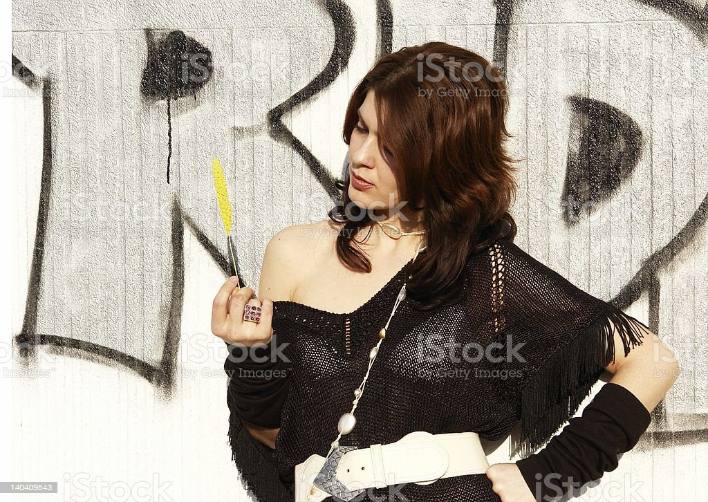 Yellow accent royalty-free stock photo