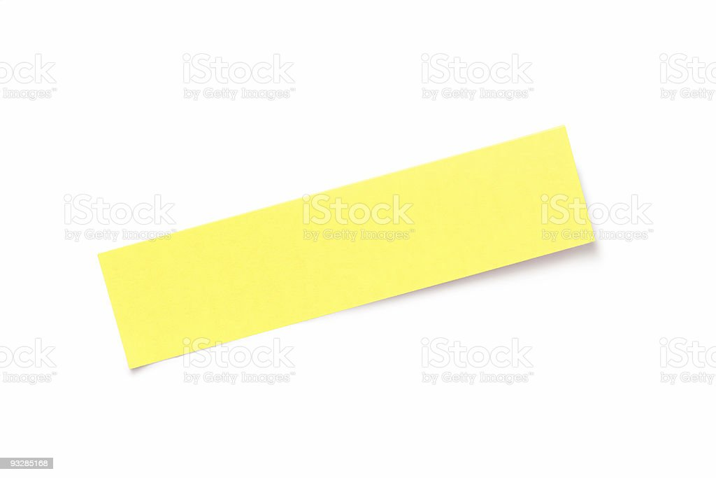 Yellow adhesive note isolated on white background royalty-free stock photo