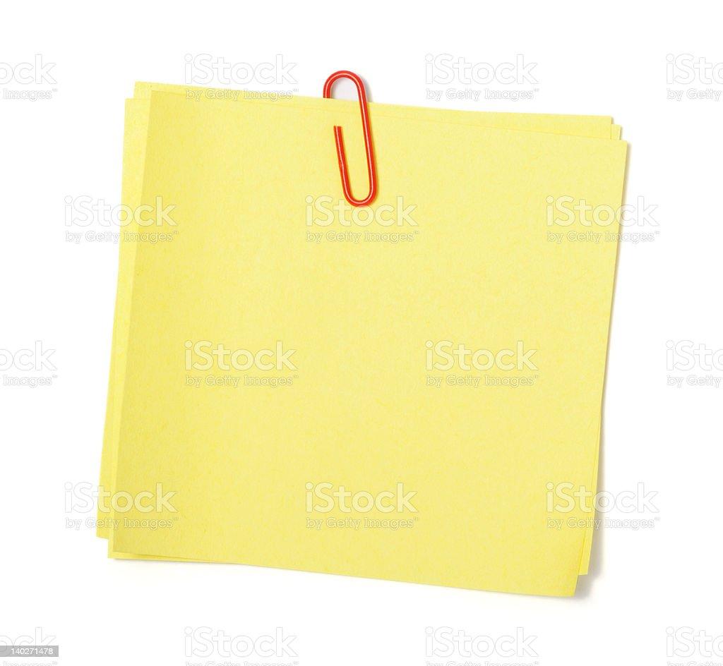 Yellow adhesive note royalty-free stock photo