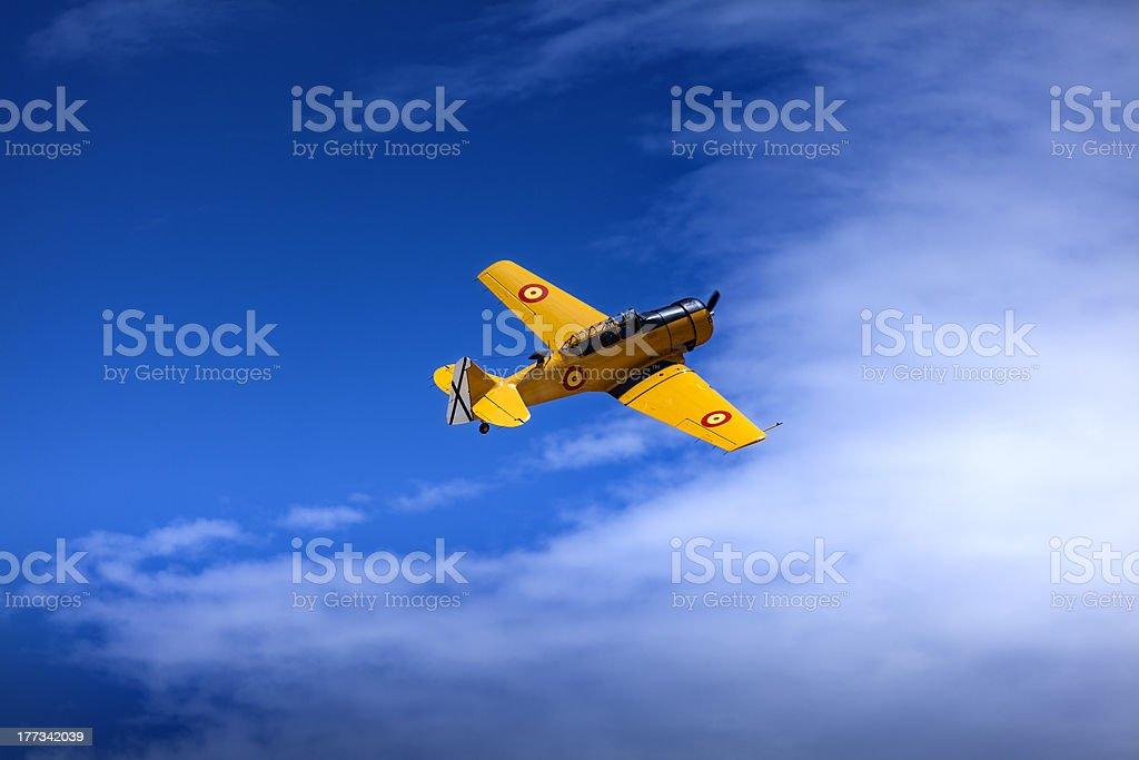 Yellow Aeroplane royalty-free stock photo