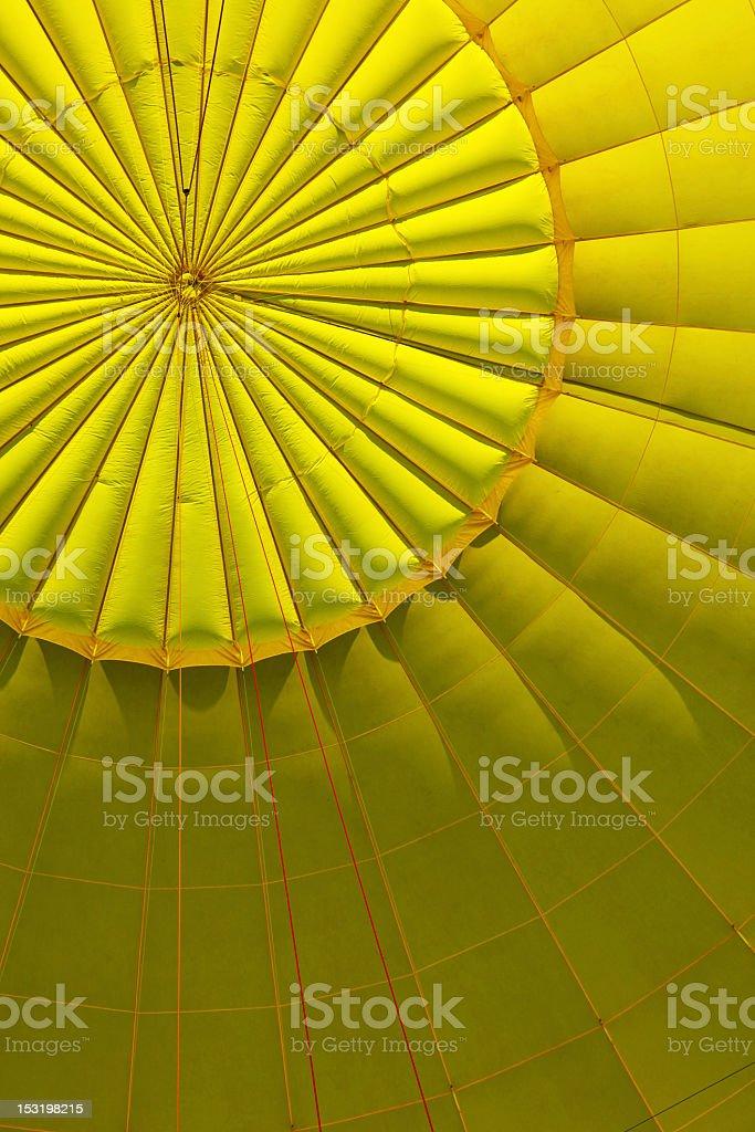 Yellow air ballon inside royalty-free stock photo