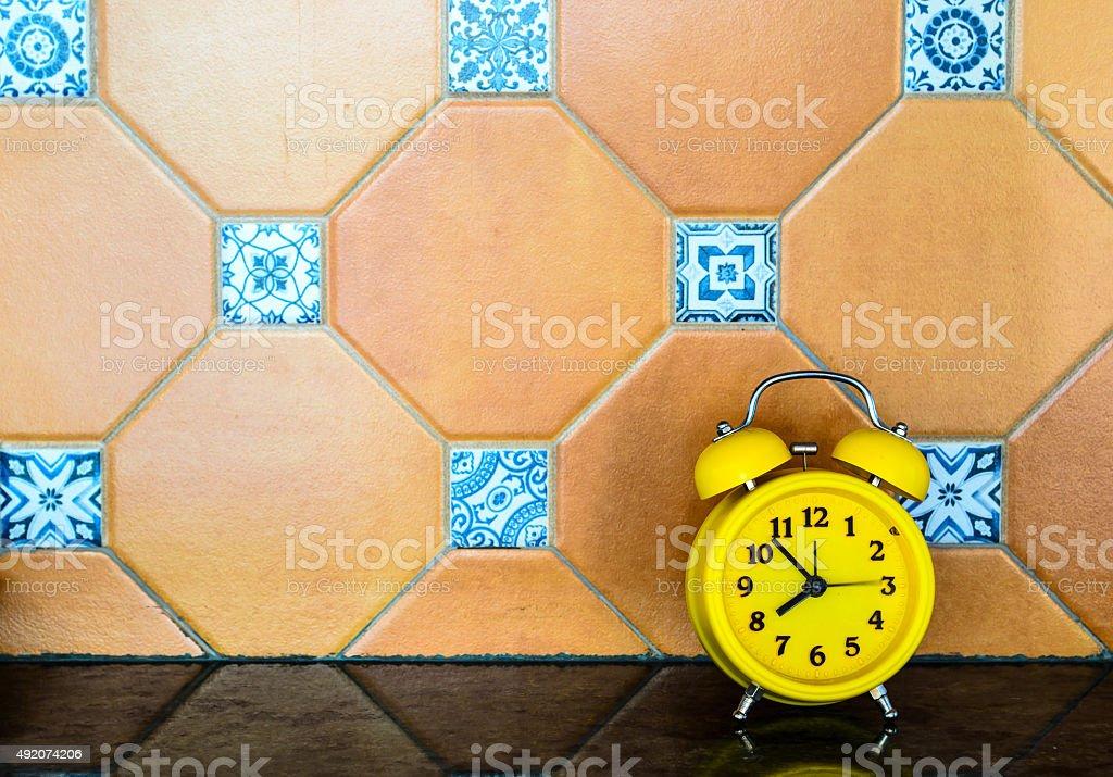 Yellow Alarm Clock stock photo