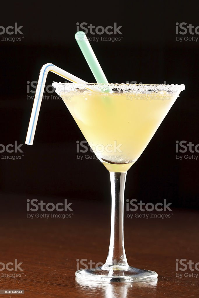 yellow alcoholic cocktail royalty-free stock photo