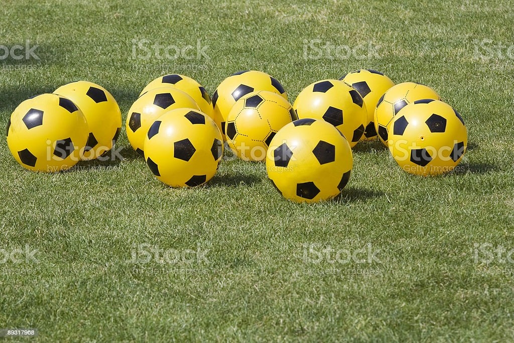 Yellow and Black Balls #1 royalty-free stock photo