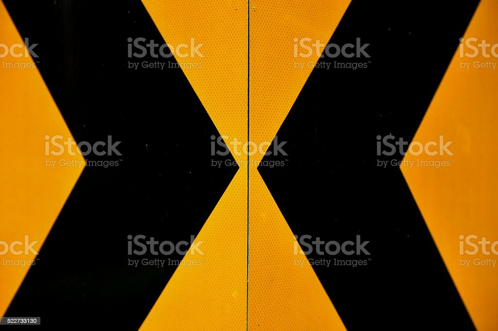 yellow and black marking stock photo