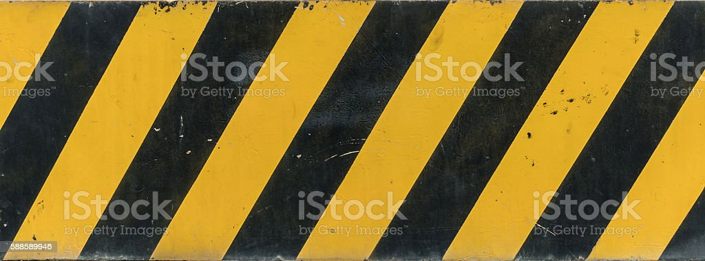 Yellow and black sign stock photo