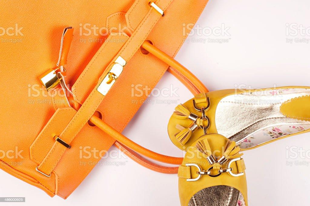 Yellow and Orange Fashion stock photo
