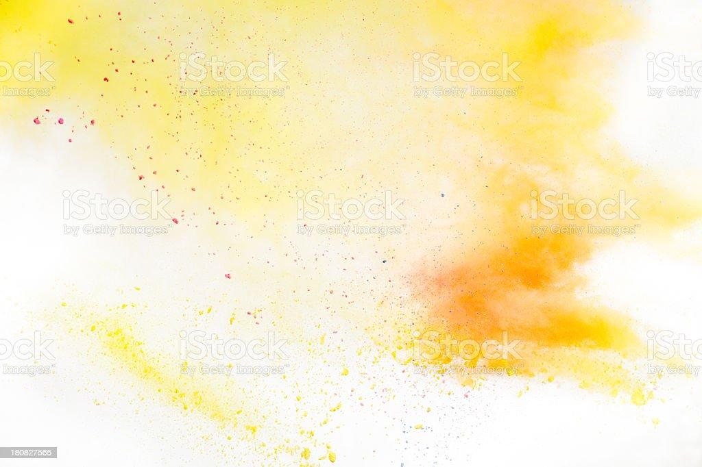 Yellow and orange Holi Powder stock photo