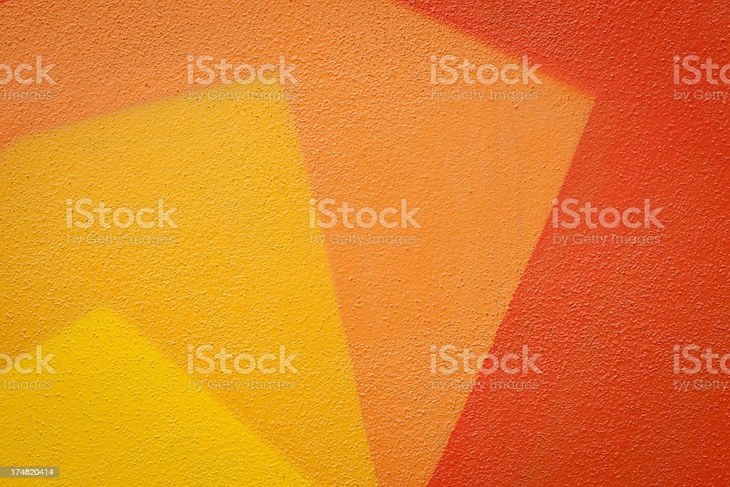 Yellow And Orange Painted Wall royalty-free stock photo