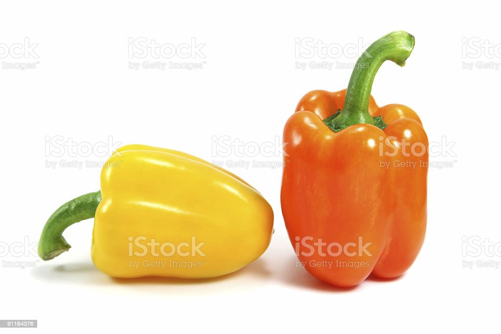 yellow and orange pepper royalty-free stock photo