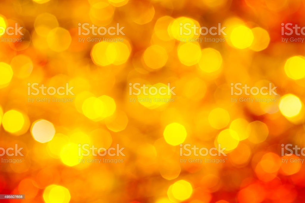 yellow and red blurred flickering Xmas lights stock photo