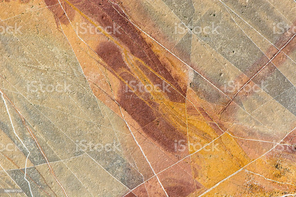 Yellow and red sedimentary rock background stock photo