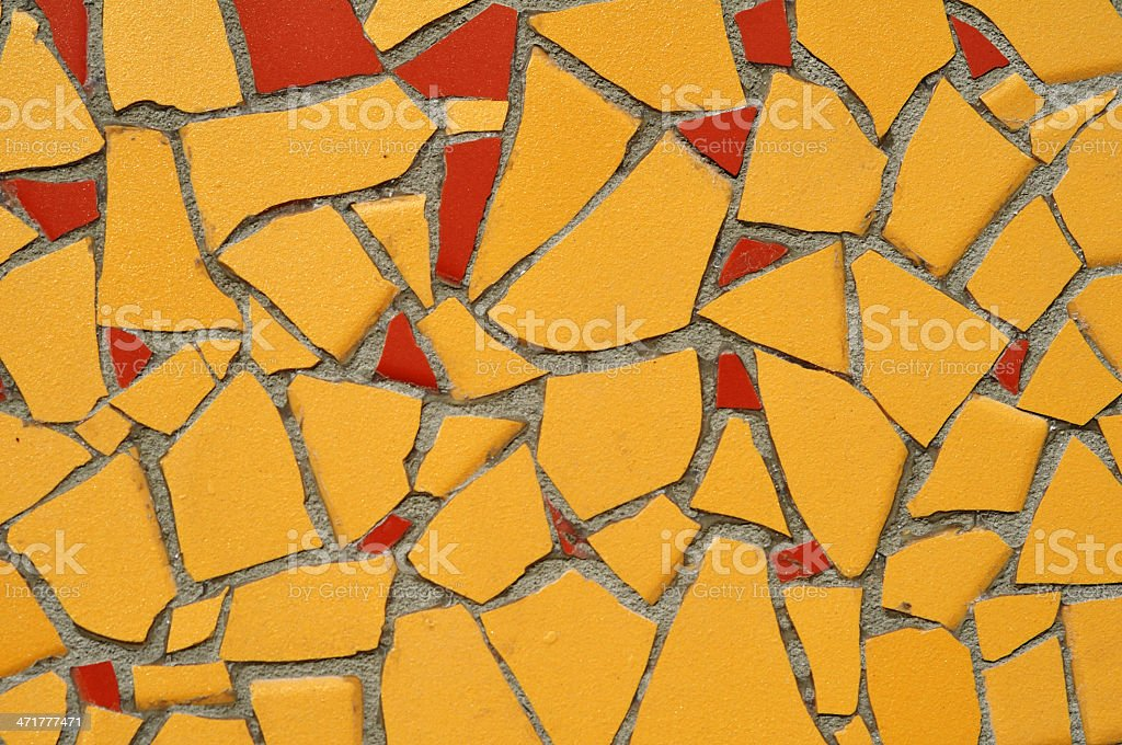 Yellow and Red Tile Mosaic royalty-free stock photo