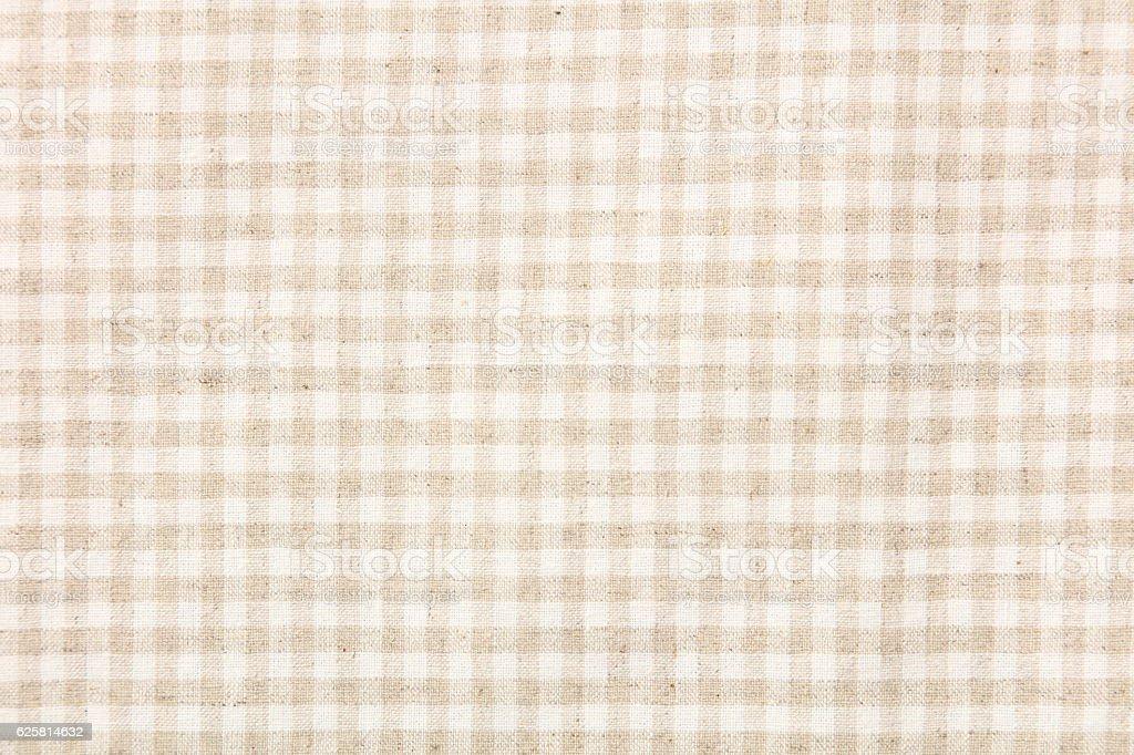 Yellow and white checkered fabric stock photo