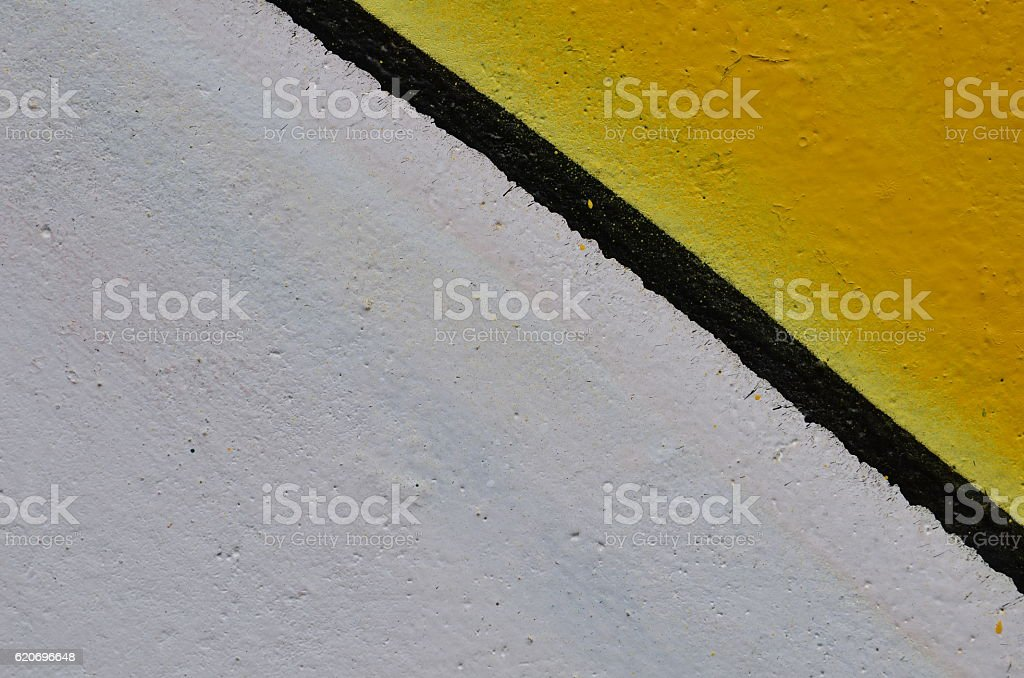 Yellow and white paint background stock photo