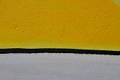 Yellow and white paint background