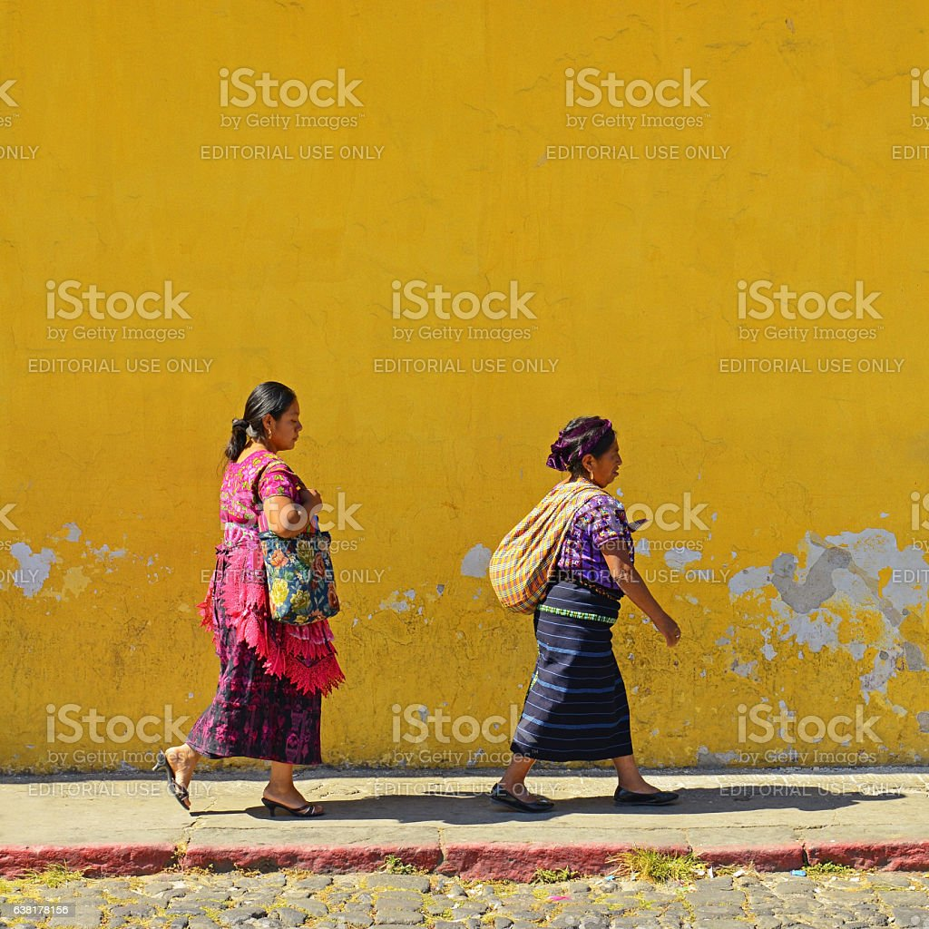 Yellow Antigua stock photo