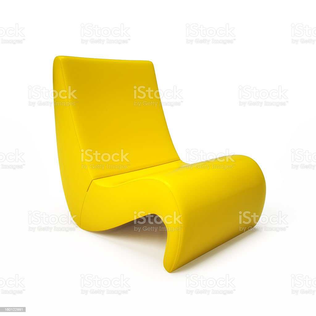 Yellow armchair royalty-free stock photo