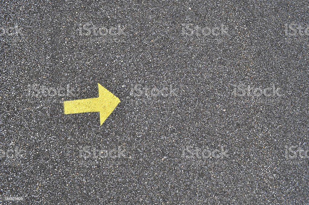 Yellow Arrow royalty-free stock photo