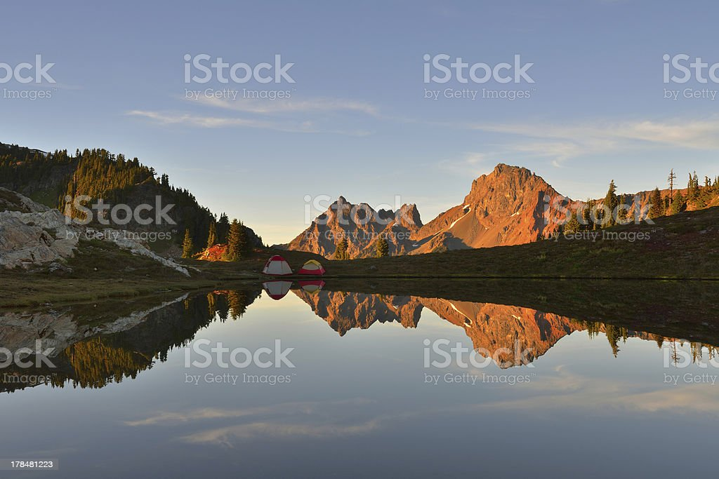 Yellow Aster Butte and the Border Peaks royalty-free stock photo
