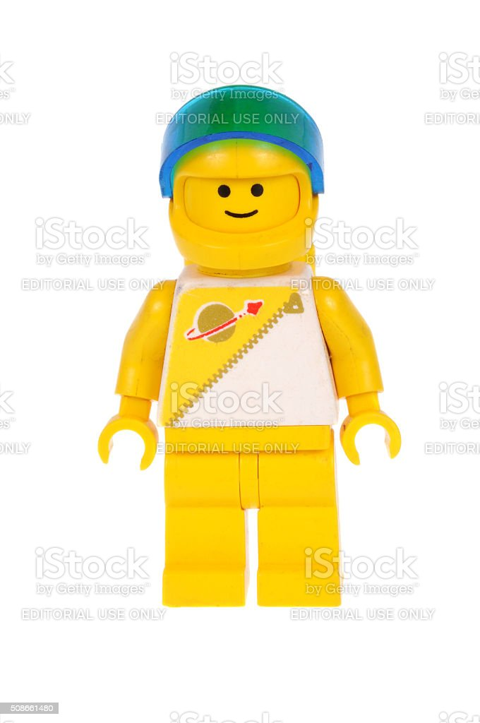 Yellow Astronaut Lego Minifigure stock photo