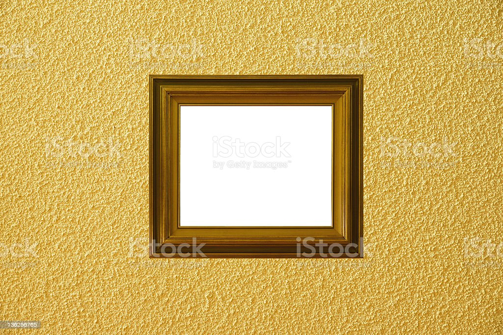 Yellow background with frame royalty-free stock photo