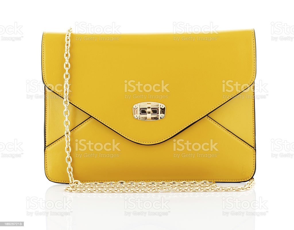 yellow bag stock photo