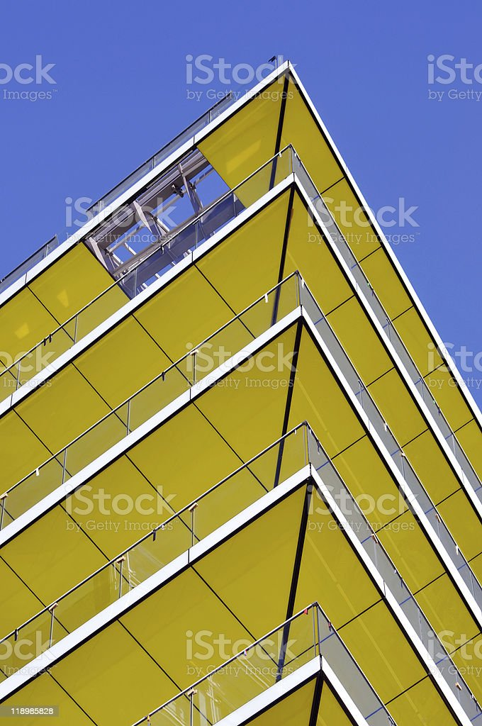 Yellow  balcony royalty-free stock photo