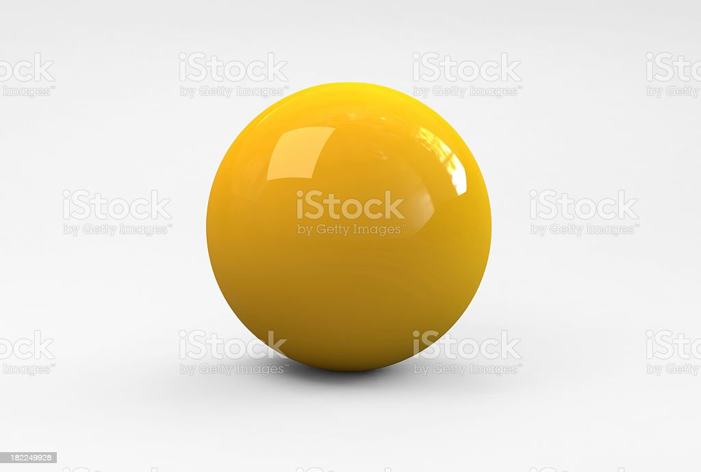 yellow Ball stock photo