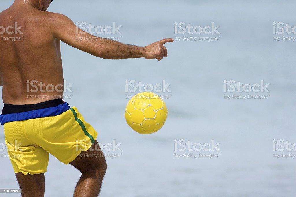 Yellow Ball royalty-free stock photo