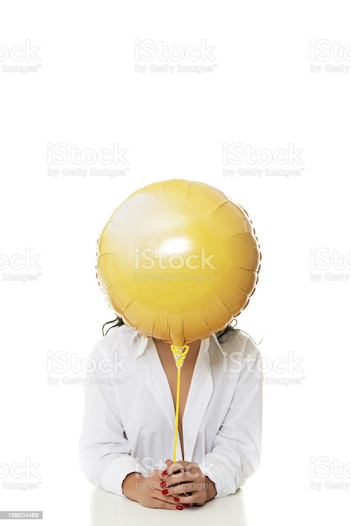 yellow balloon stock photo