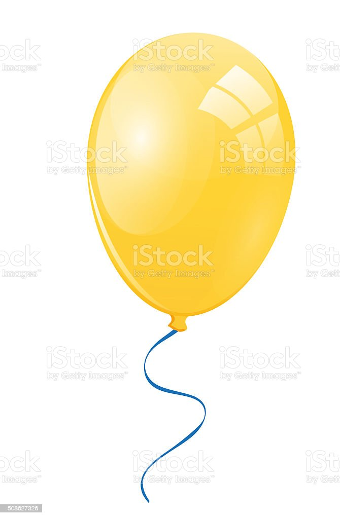 Yellow balloon stock photo