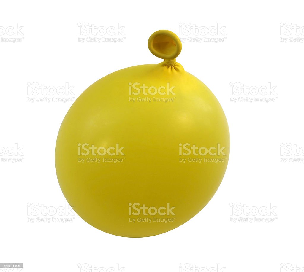 yellow balloon upright stock photo