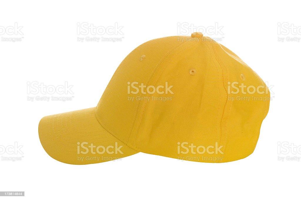 Yellow baseball cap royalty-free stock photo