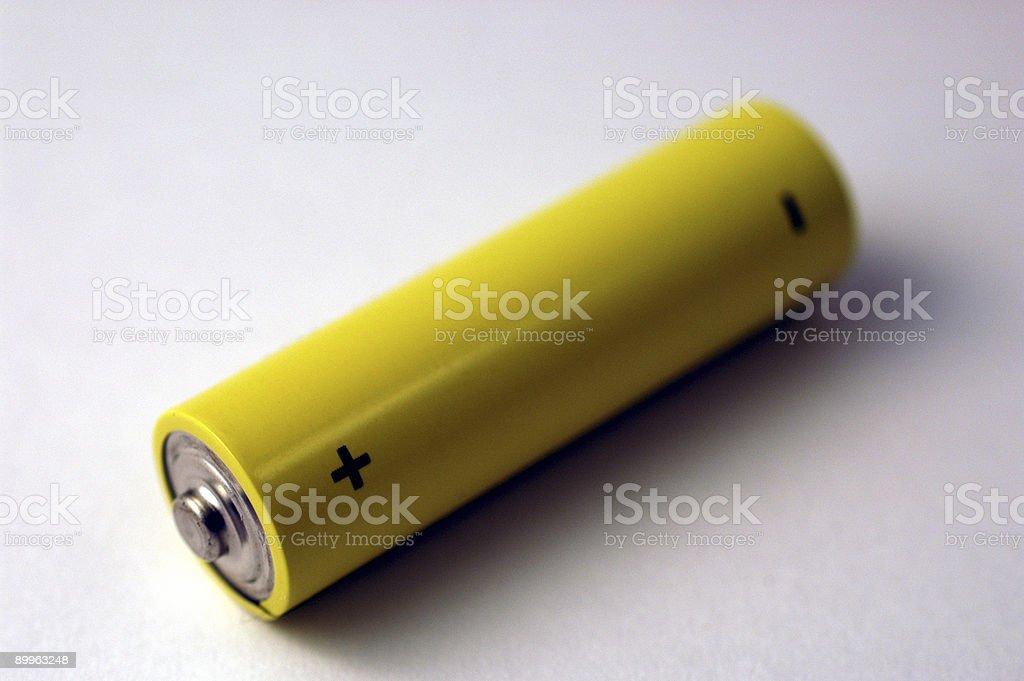 Yellow Battery royalty-free stock photo