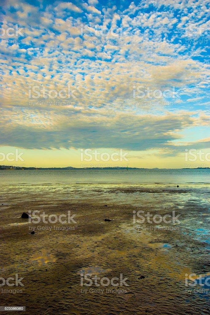 Yellow beach stock photo