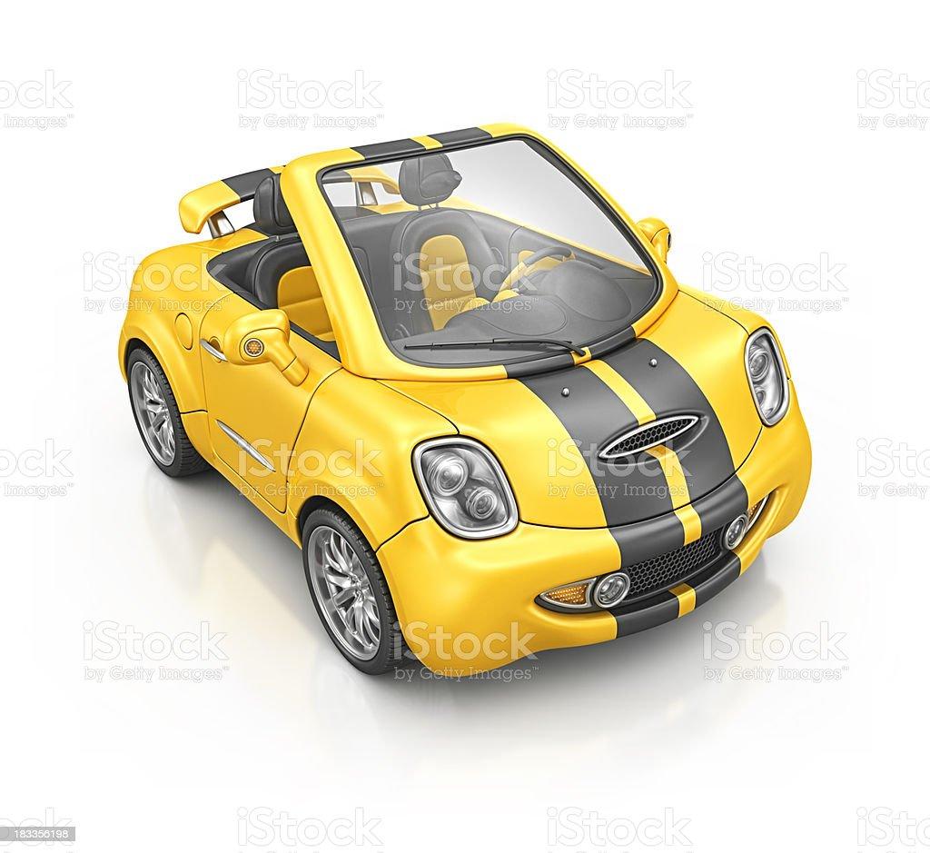 yellow bee roadster stock photo