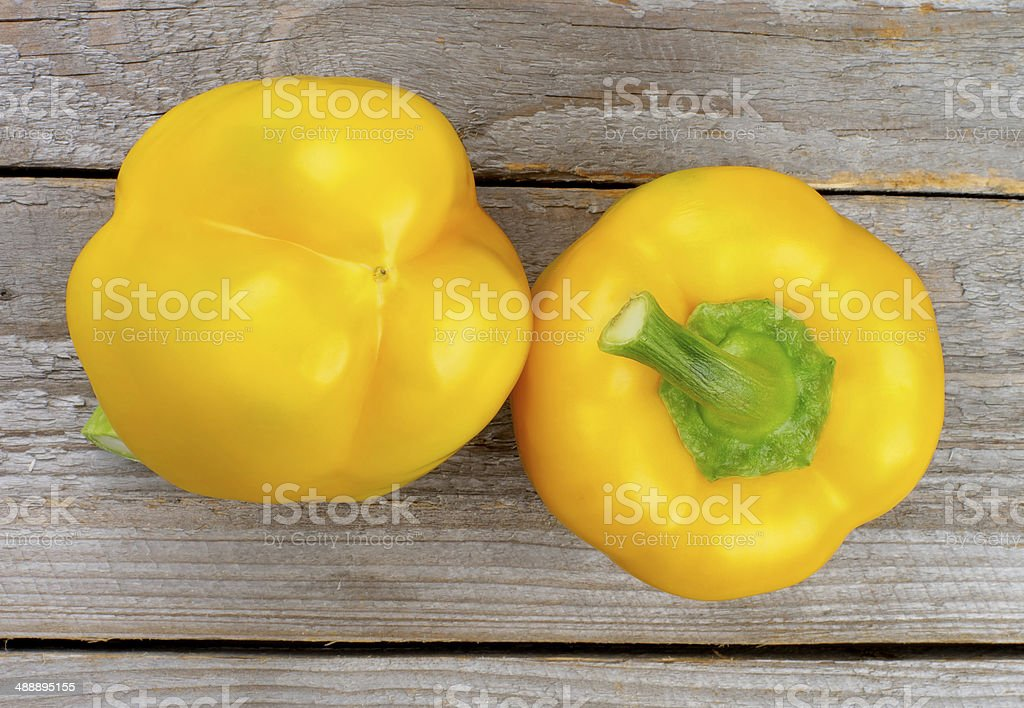 Yellow Bell Peppers royalty-free stock photo