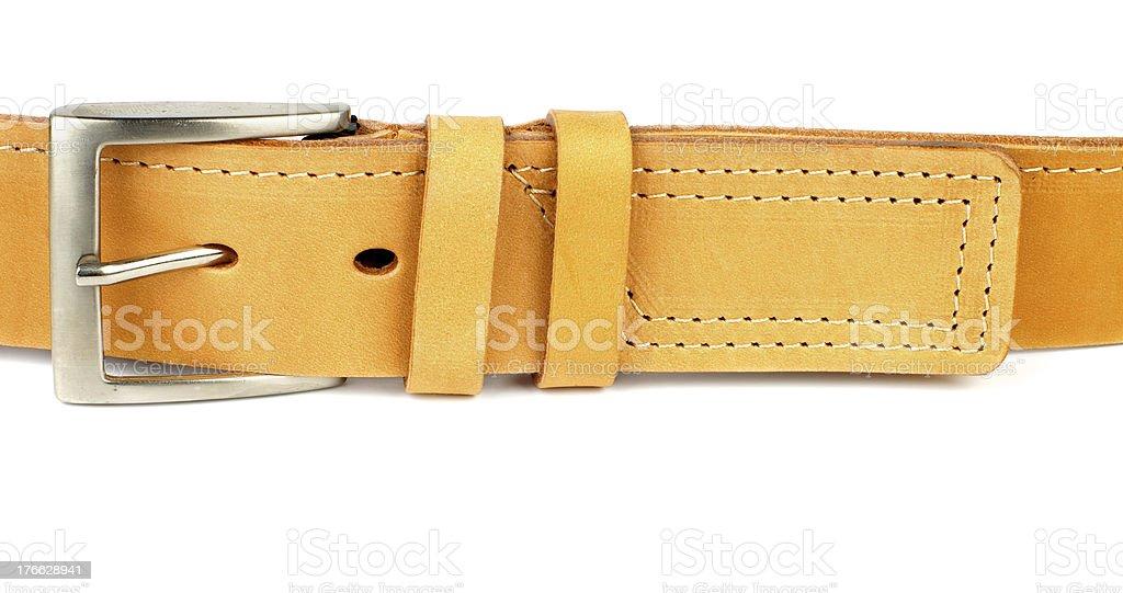 Yellow Belt royalty-free stock photo