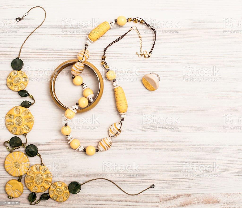 Yellow bijoux stock photo