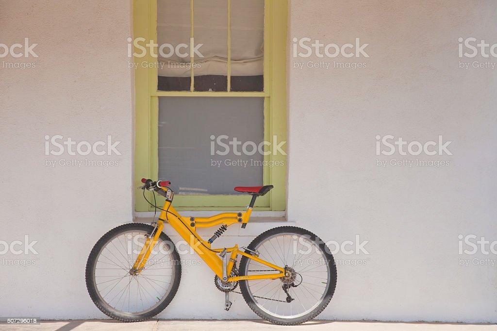 Yellow Bike II stock photo