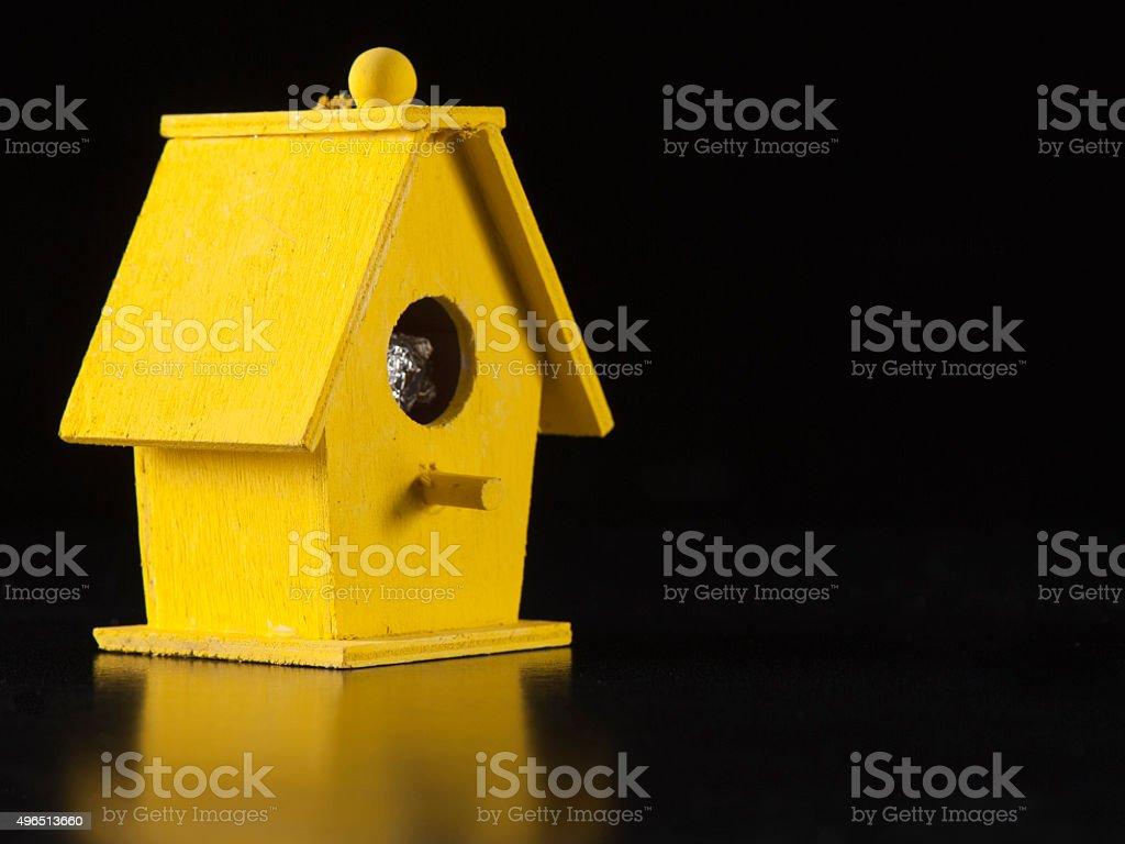 Yellow Bird House stock photo