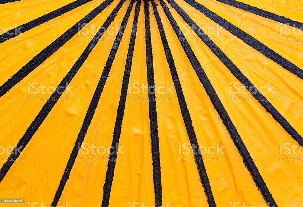 Yellow black umbrella royalty-free stock photo