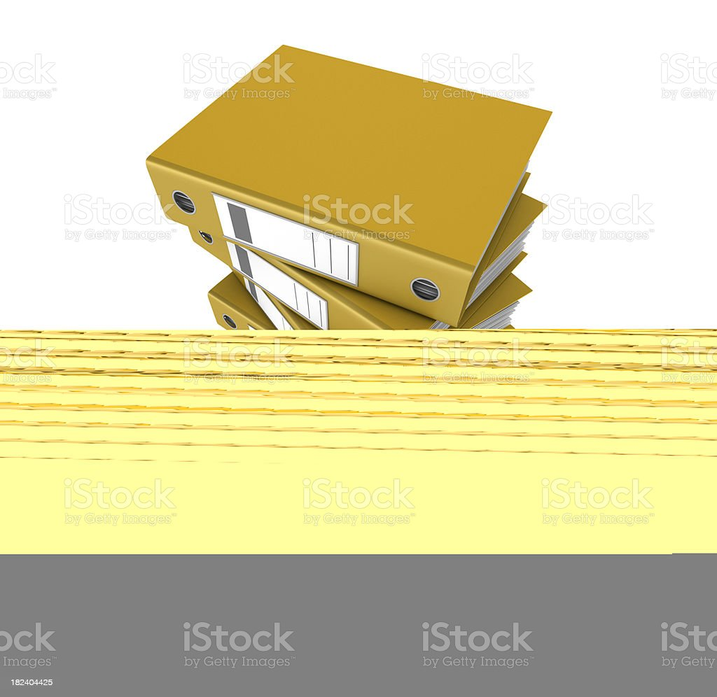 Yellow Blank Button royalty-free stock photo