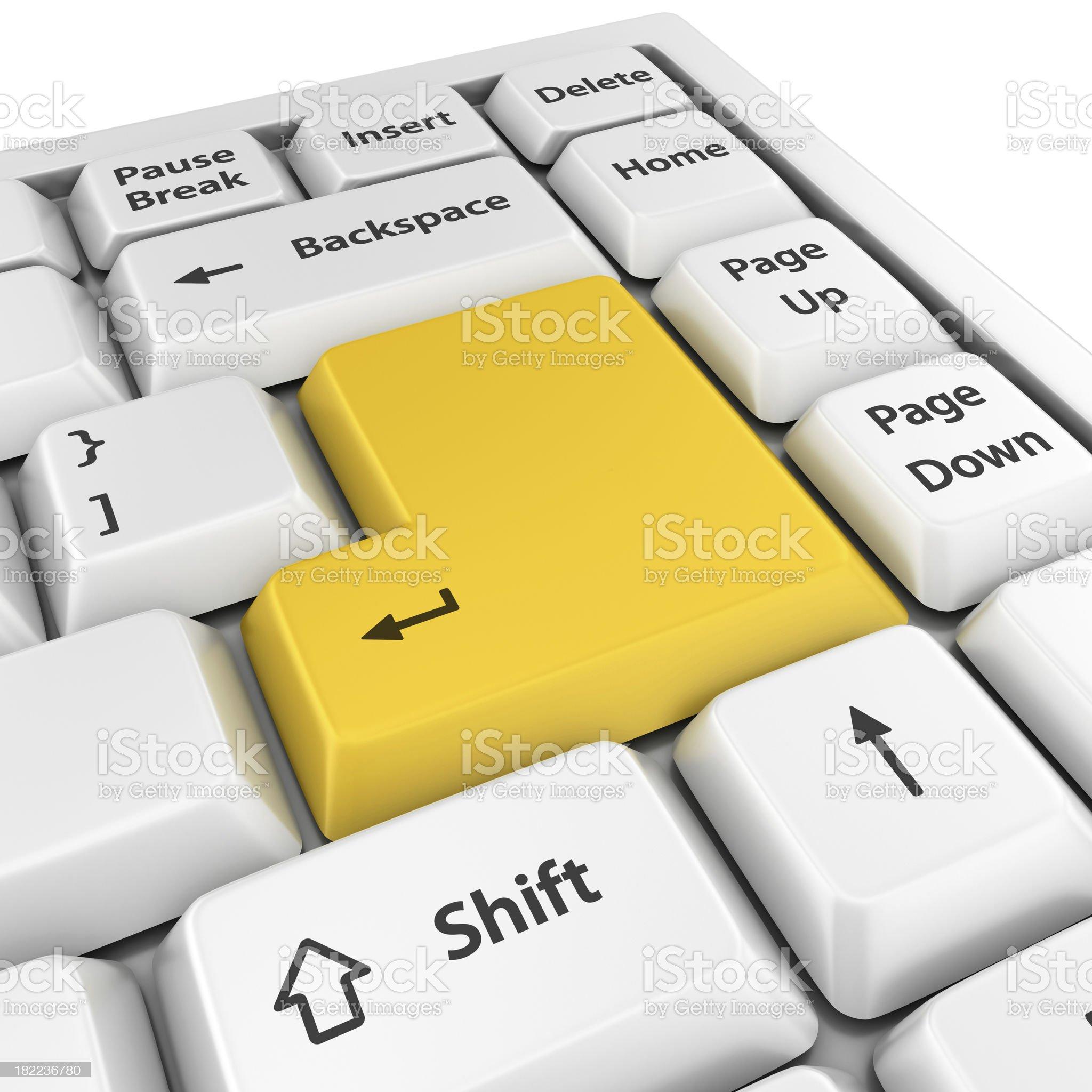 yellow blank enter button royalty-free stock photo