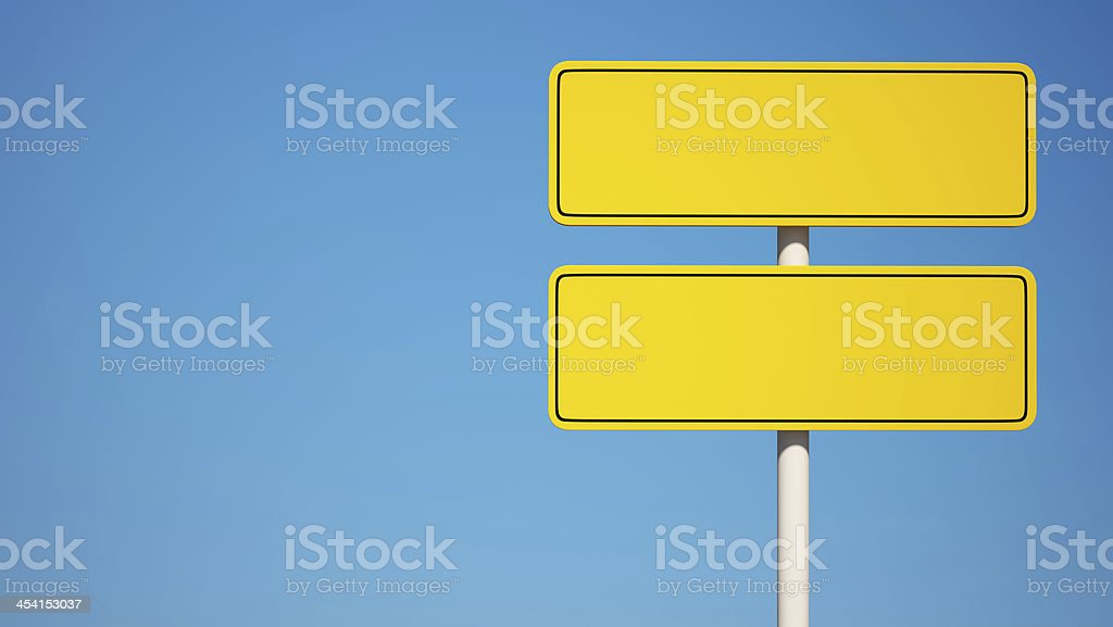 Yellow Blank Sign with Clipping Path royalty-free stock photo