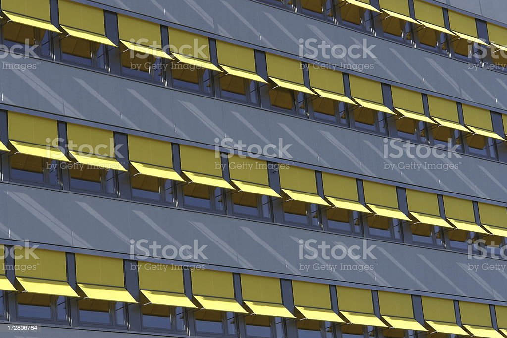 yellow blinds stock photo