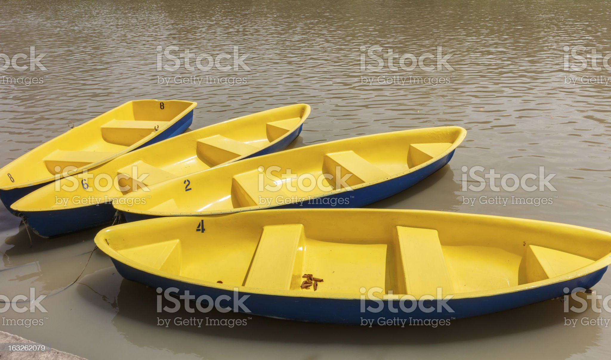 Yellow boat royalty-free stock photo